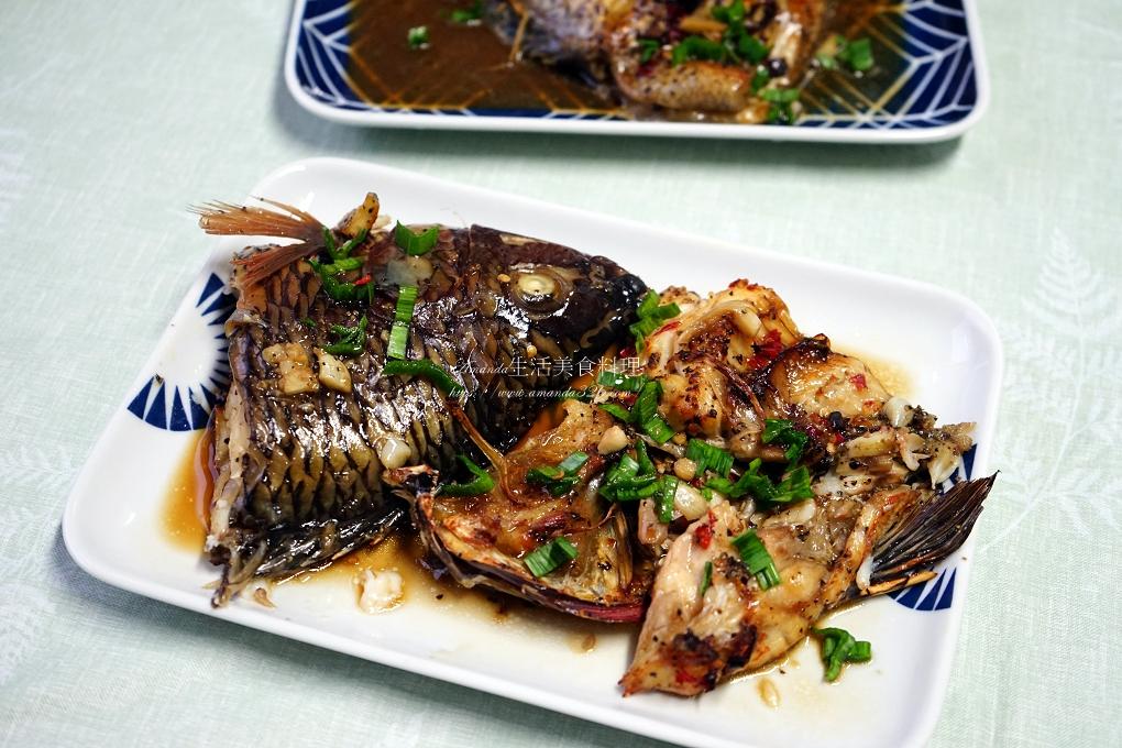 無油煙料理-蒸烤香辣台灣鯛