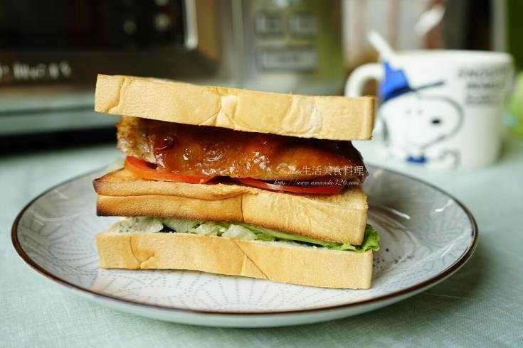 三明治,早午餐,早餐,烤肉,烤雞,烤雞腿,醃肉 @Amanda生活美食料理