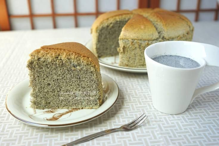 戚風蛋糕,芝麻蛋糕,蛋糕 @Amanda生活美食料理
