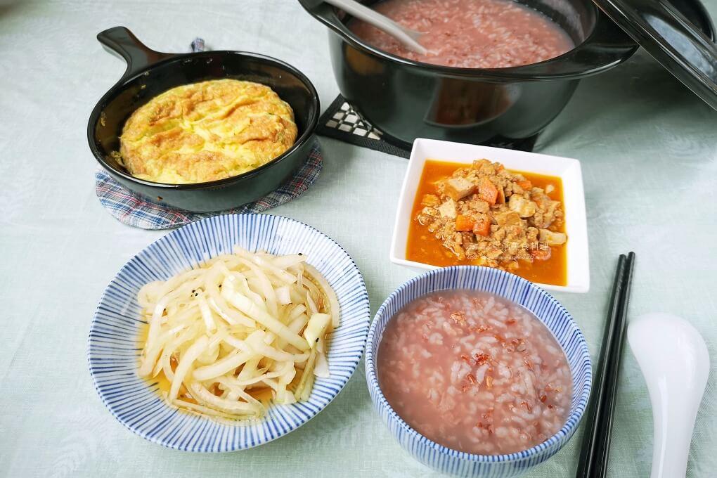 洋蔥,涼拌,清粥,粥,胭脂稻,胭脂米