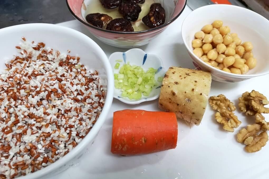 炊飯,素飯,胭脂稻,胭脂米,胭脂飯,雪蓮子,鷹嘴豆