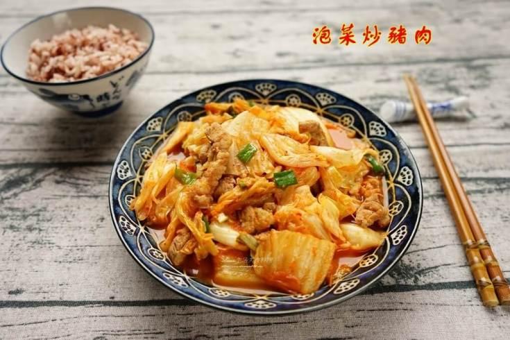 泡菜,泡菜炒五花,泡菜炒肉,韓式泡菜 @Amanda生活美食料理