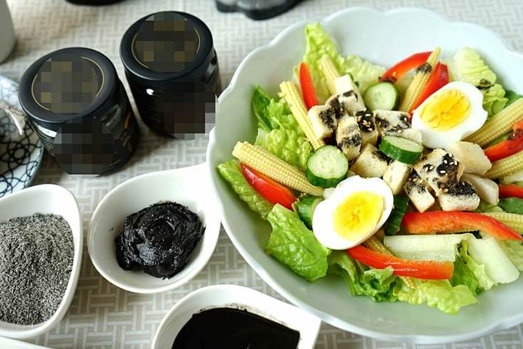 低醣,沙拉,蛋素,輕食,黑芝麻,芝麻醬 @Amanda生活美食料理
