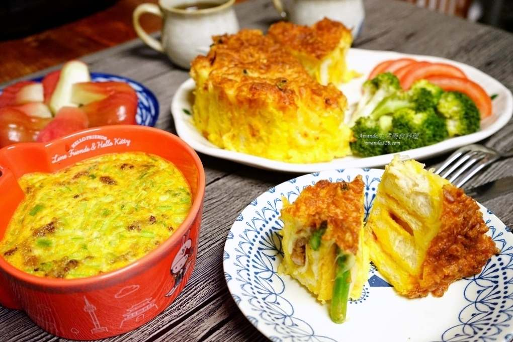 吐司肉蛋糕,吐司蛋糕,氣炸料理,氣炸鍋,氣炸鍋料理,氣炸食譜,焗烤,焗烤蛋糕,肉蛋糕,鹹蛋糕 @Amanda生活美食料理