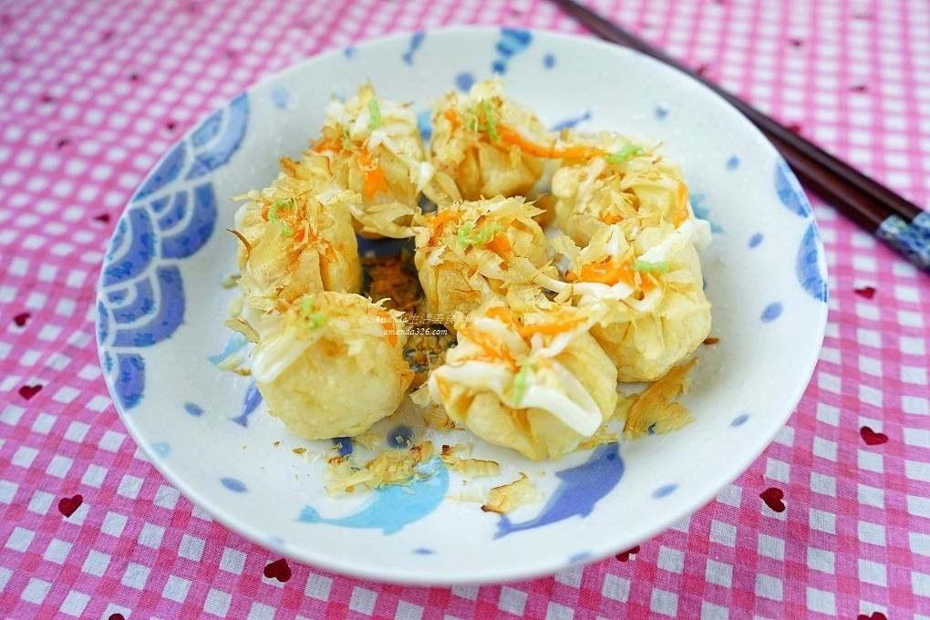 哇沙米章魚燒,宴客,年菜,氣炸料理,氣炸食譜,炸花枝丸,章魚燒,花枝丸