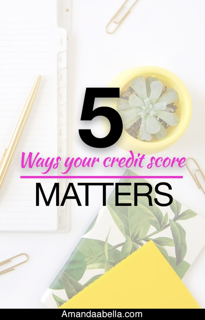 5 Ways Your Credit Score Matters