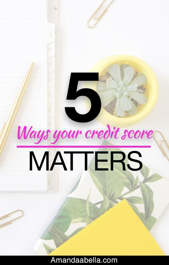 5 Ways Your Credit Score Matters