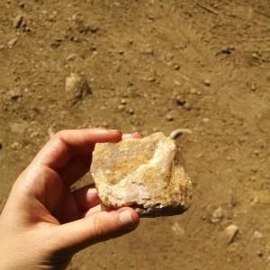 Found a rose quartz while hiking!