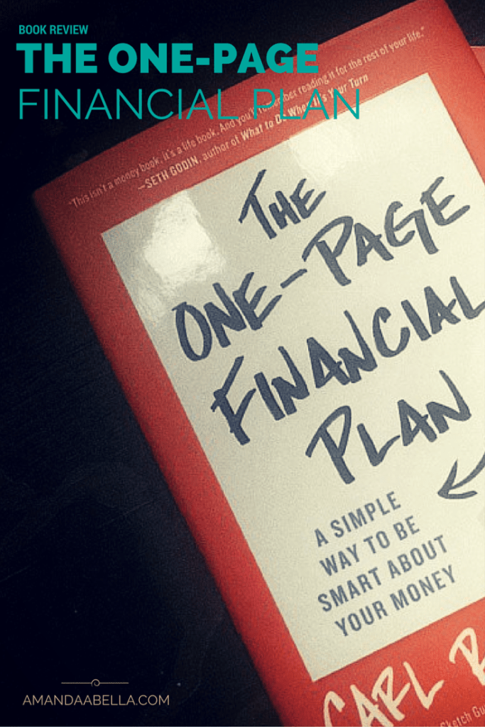 The One Page Financial Plan Review