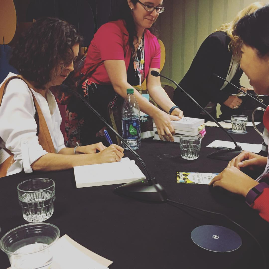 Signing books!