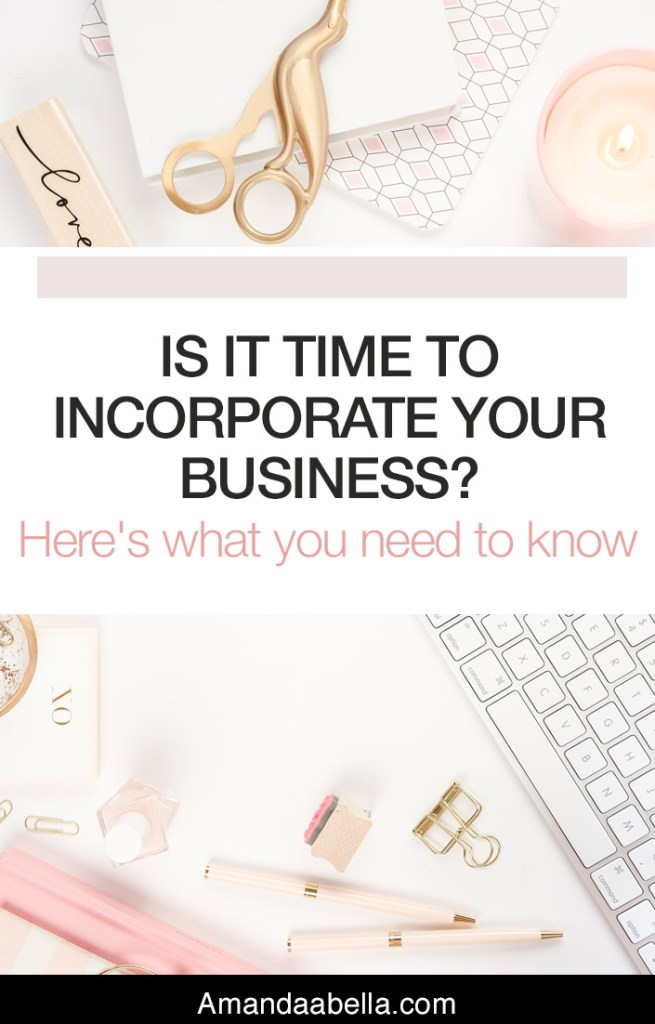 Is It Time To Incorporate Your Business?