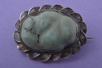 Silver Vintage Oriental Brooch With Turquoise | Vintage ...