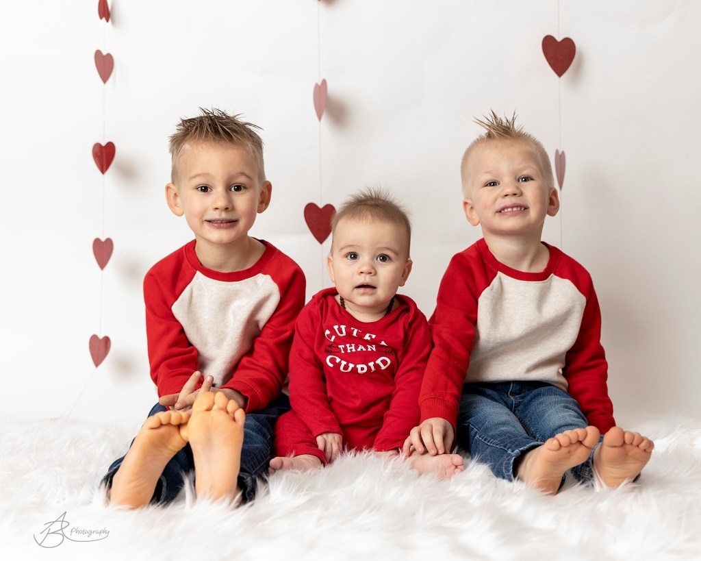 Three Boys Valentine's Day Mini Session