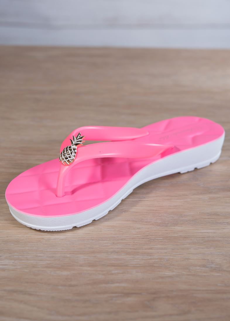 c0ff643563fc Quilted Pineapple Flip Flop – Pink – Amanda Blu and Company