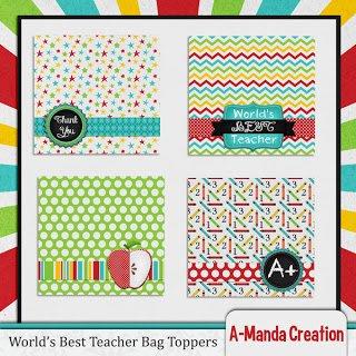 Teacher Appreciation Printable Gift ideas Bag Toppers