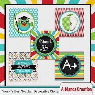 Teacher Appreciation Printable Gift ideas Party Circles