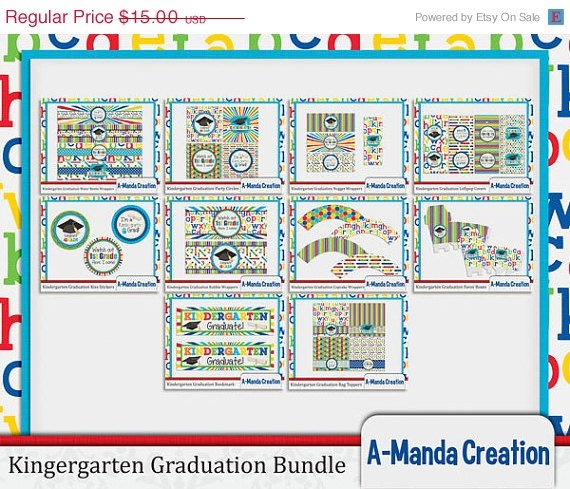 Kindergarten Graduation Party Printables