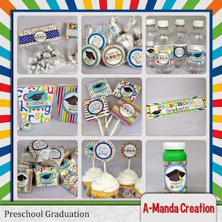 Preschool Graduation Party Printables and a Freebie!