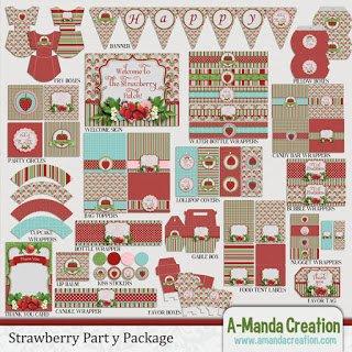 Strawberry Birthday Party Printables