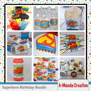 Super Hero Birthday Party Printables