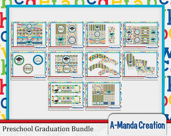 Preschool Party Graduation Printables