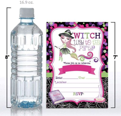 witch water bottle labels