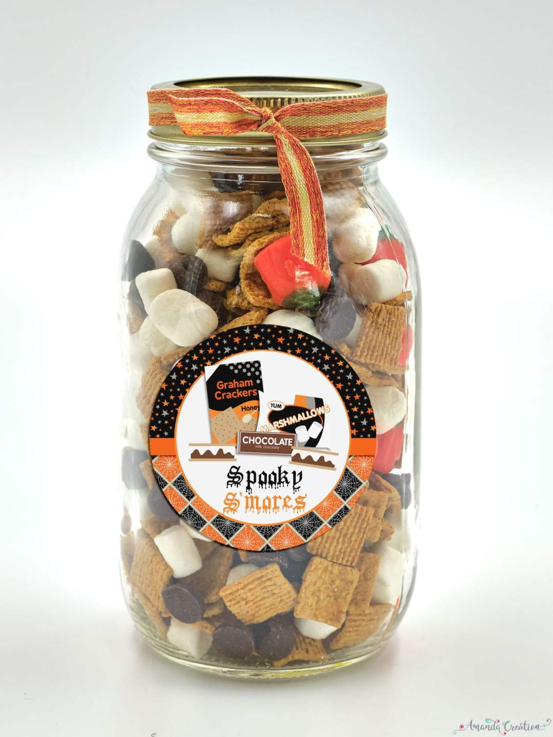 spooky s'mores gift sticker