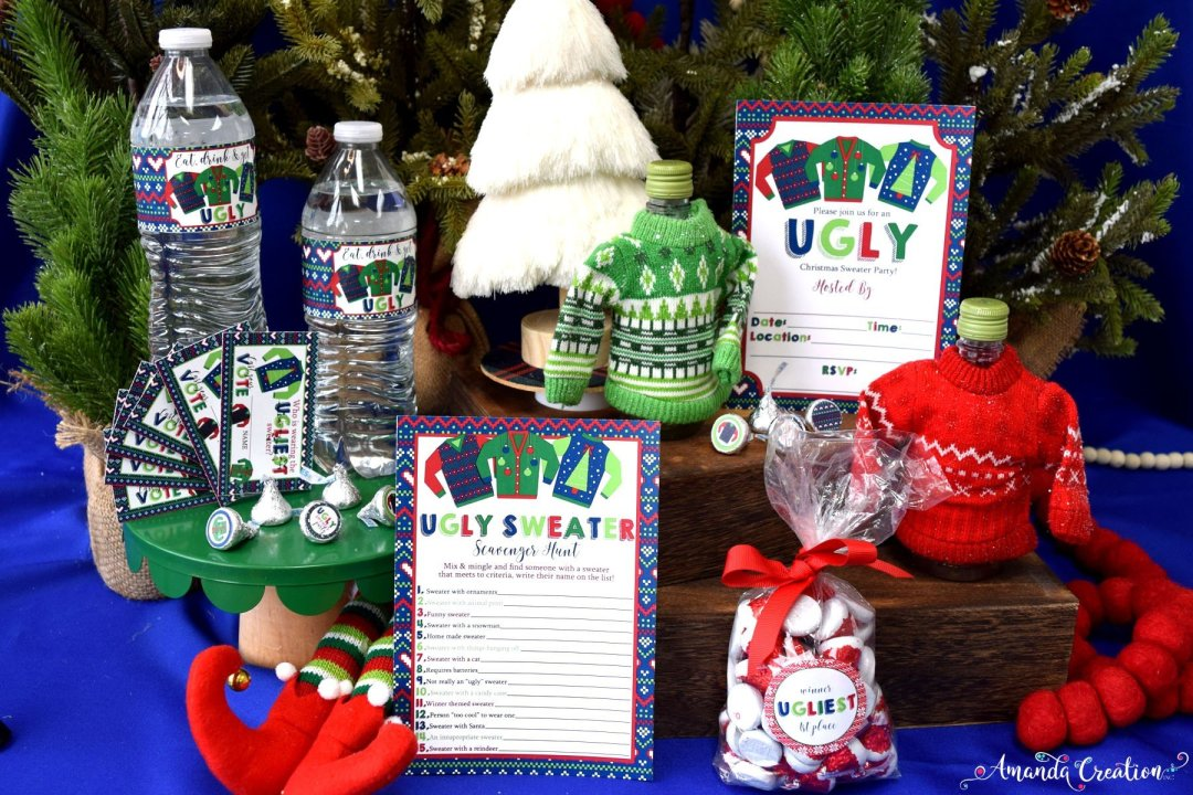 ugly sweater party set