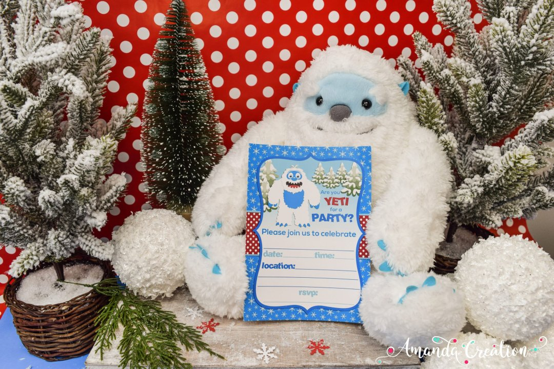yeti invitation party supply