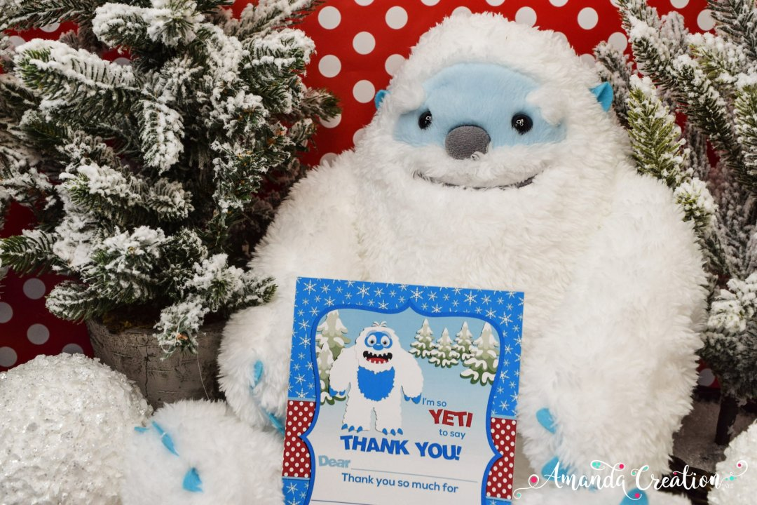 yeti thank you card