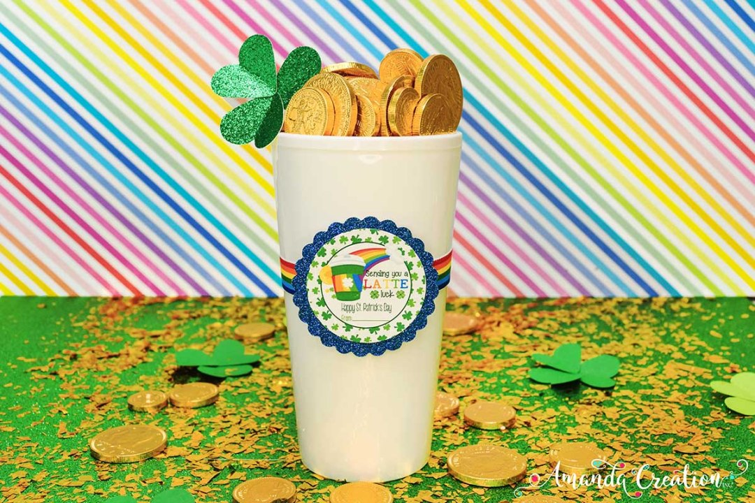 Latte St. Patrick's Day Sticker