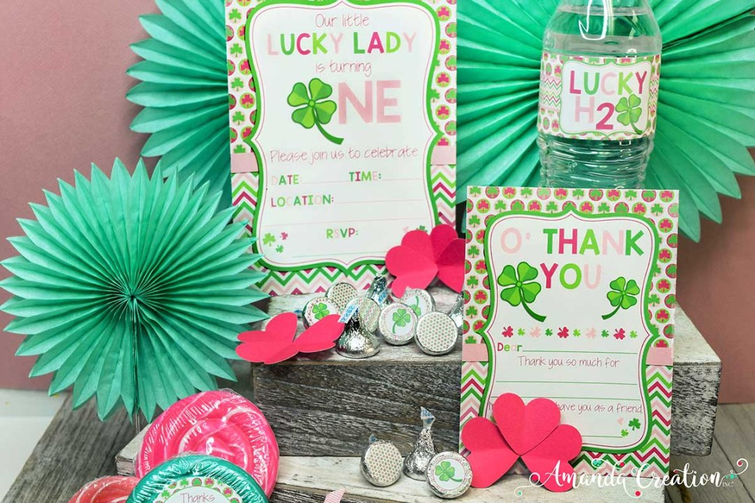 St. Patrick's Day 1st Birthday Party Set for a Girl