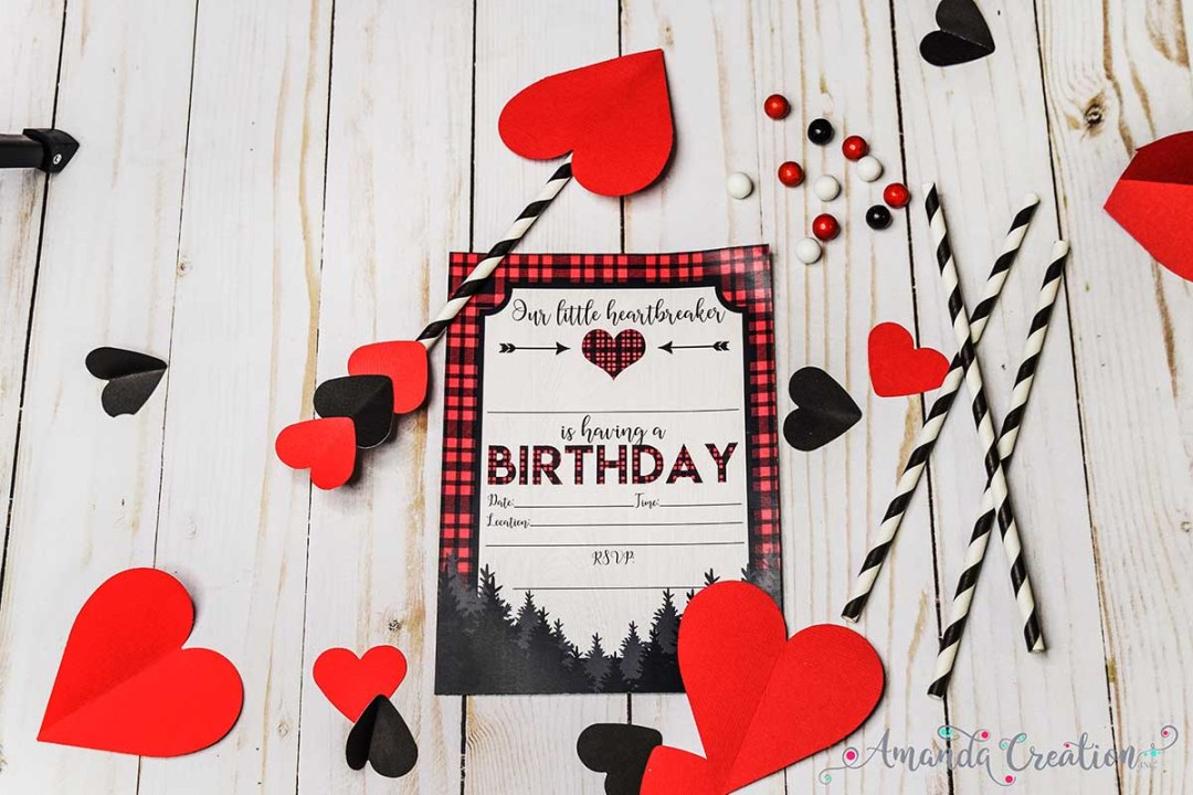 Little Heartbreaker Birthday Party Invitation
