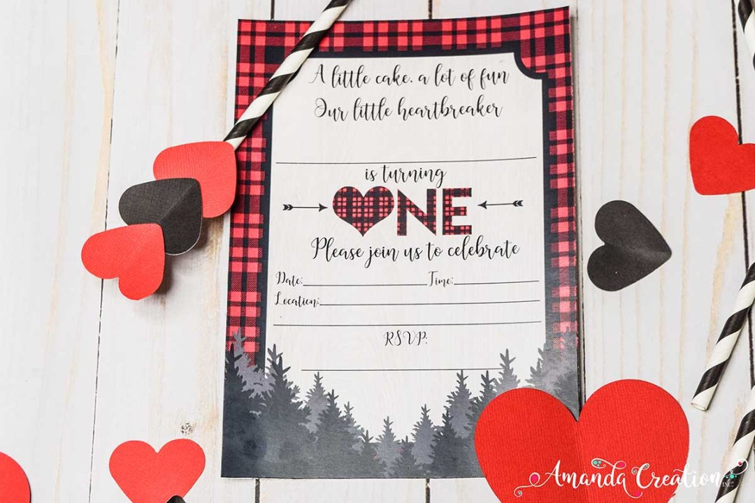 Little Heartbreaker 1st Birthday Party Invitation