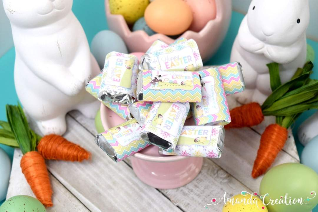 Egg Hunt Mini Candy Bar Wrappers