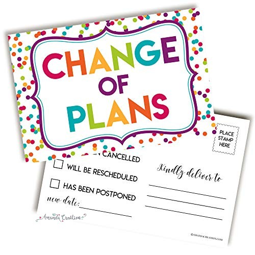 Change of Plans Postcard