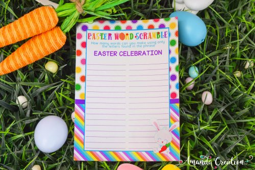 Easter Word Scramble