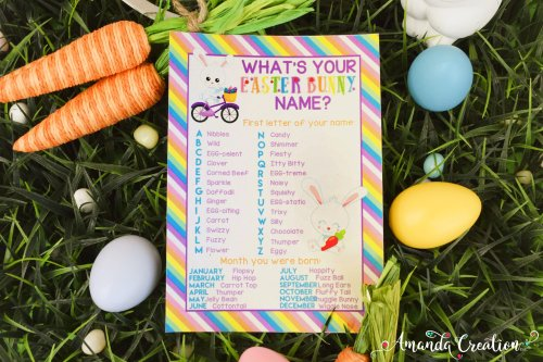 Easter Bunny Name Game