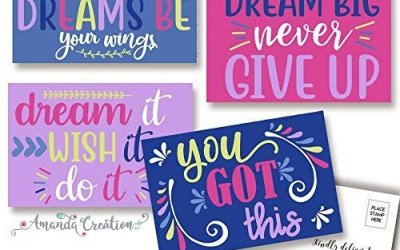 Dream Big With Cheerful Encouragement Postcards