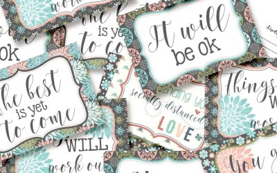 Positive Encouraging Postcards for Family and Friends