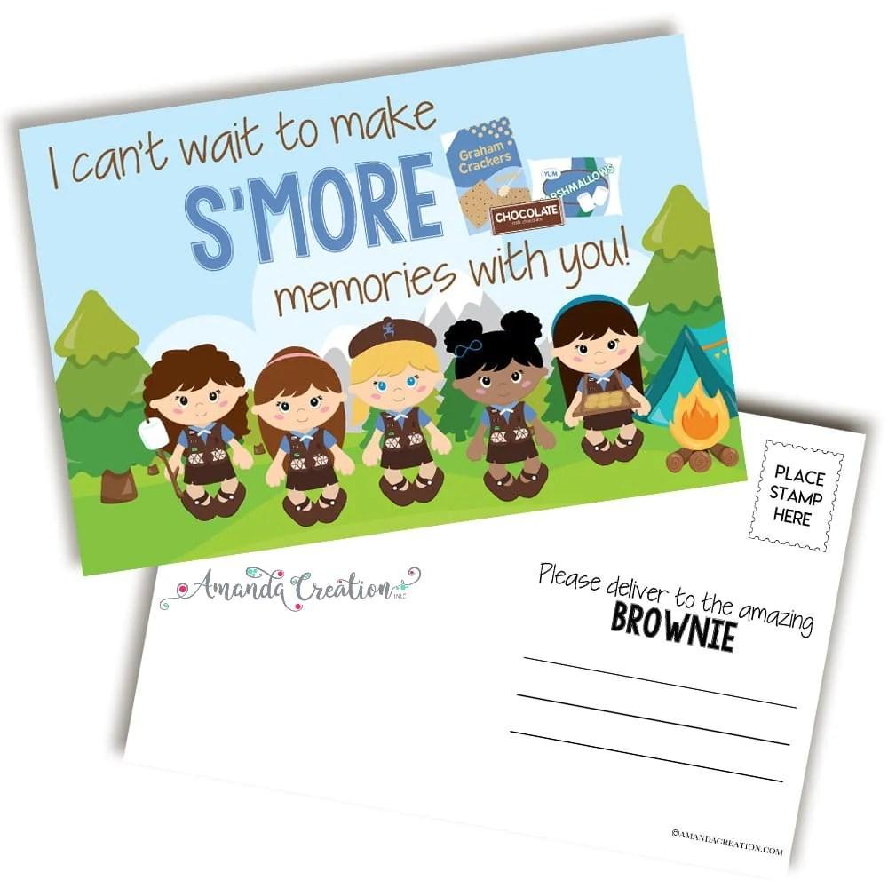 Scouting Brownies Postcards