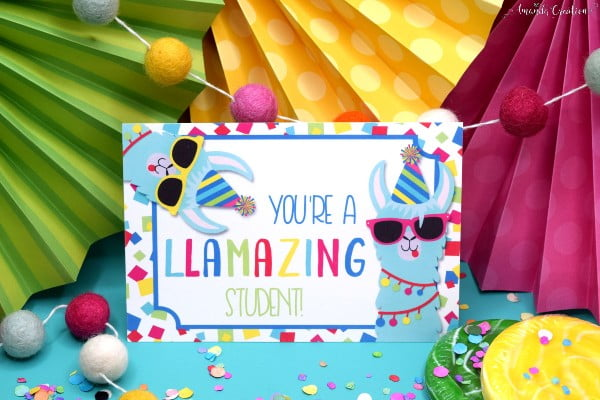 Llama Teacher Postcard