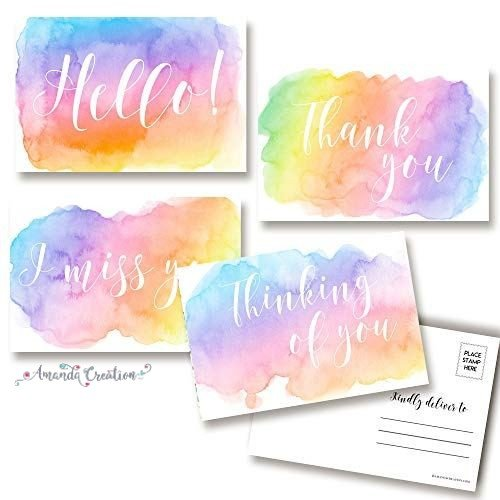 Pretty Pastel Postcards for Family and Friends