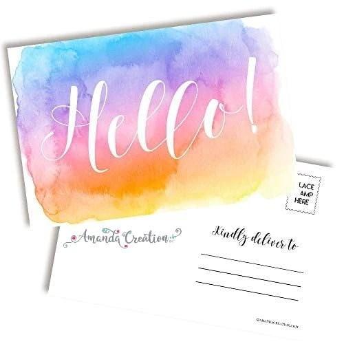 Hello Pastel Postcards