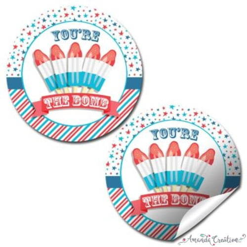 Patriotic Party Sticker
