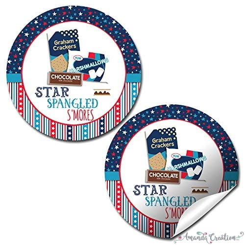 Patriotic S'mores Sticker