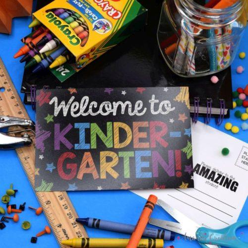 Kindergarten Back to School Postcards