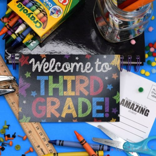 Third Grade Back to School Postcards