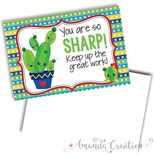 Cactus Themed Keep Up The Good Work Cards For Students