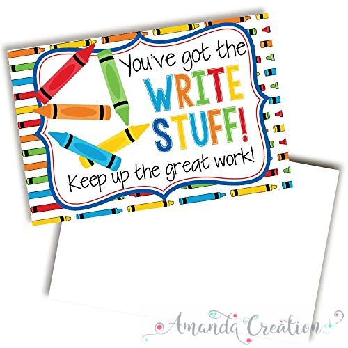 Crayon Themed Keep Up The Good Work Cards For Students